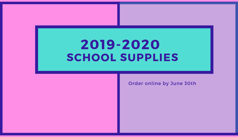 School Supplies 2019-2020