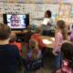 Teacher demonstrating a technology tool