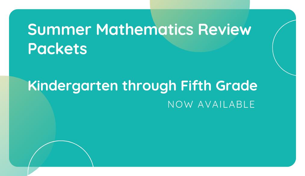 Mathematics Summer Review Packets